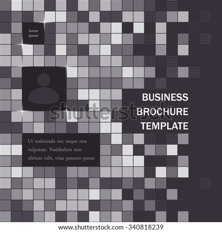 Simple business brochure abstract background - stock vector