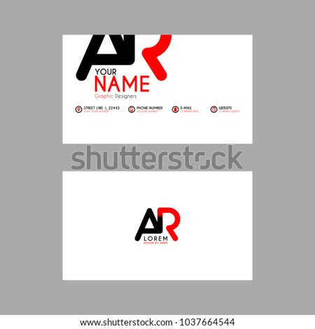Simple business card initial letter ar stock vector hd royalty free simple business card with initial letter ar rounded edges thecheapjerseys Gallery