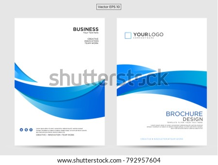 simple business flyer design template abstract vector background a4 brochure concept blue color