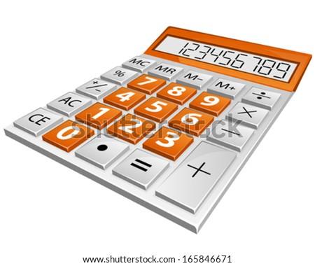 simple calculator - stock vector