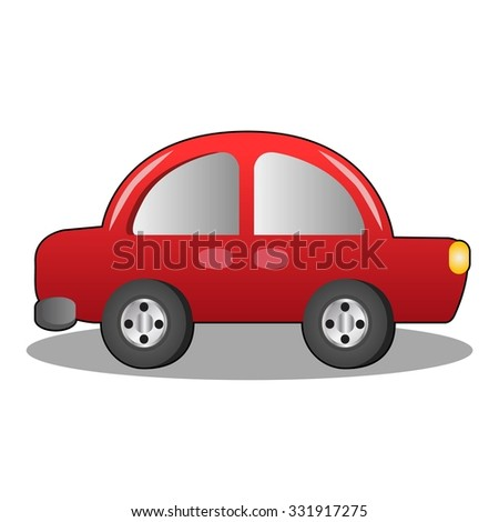 Simple Car in White Background