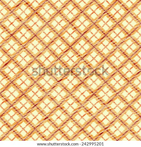 Simple checkered template. Plain tartan background for decoration or backdrop. Brush strokes. Pattern fills. Abstract backdrop. Endless vector. Fabric with scratch lines. - stock vector