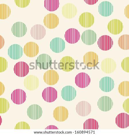 simple circle seamless pattern, vector illustration - stock vector