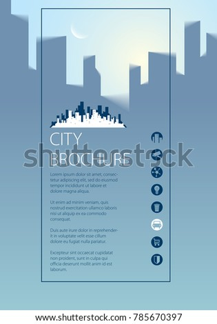 Simple City Traveling Tourist Guide Book. Brochure, Flyer, Cover, Poster Or  Guidebook  Guidebook Template