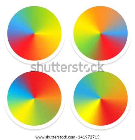 Simple color wheels - stock vector