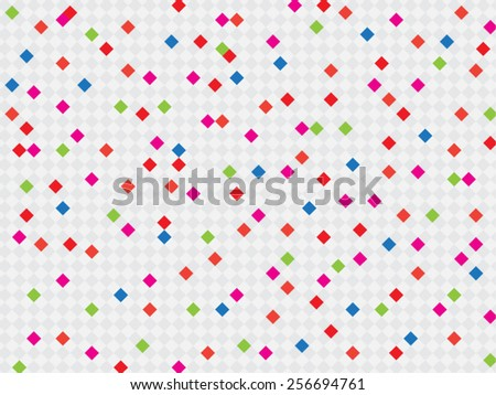 simple colorful diamonds background - stock vector