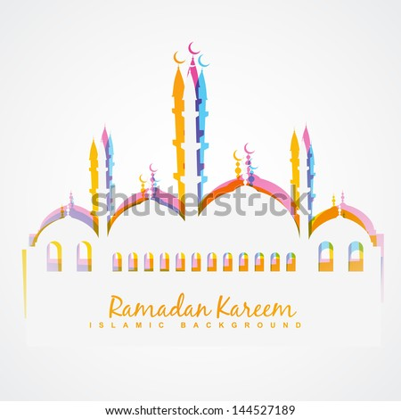 simple colorful islamic festival vector background - stock vector