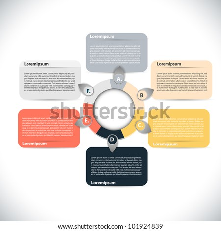 Simple colorful presentations - stock vector