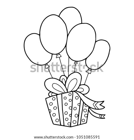 Simple Coloring Book Illustration Children Gift Stock Vector HD ...
