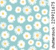 Simple daisy flowers seamless pattern in naive style . All objects are conveniently grouped  and are easily editable. - stock vector