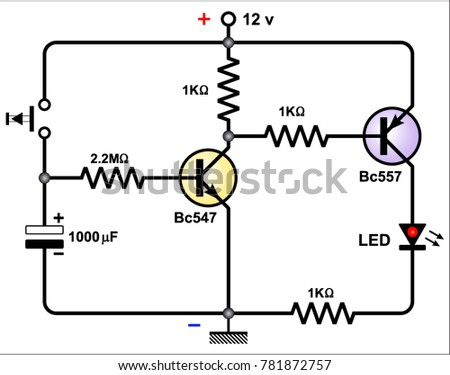 Simple Delay Timer Circuits Stock Vector (2018) 781872757 - Shutterstock
