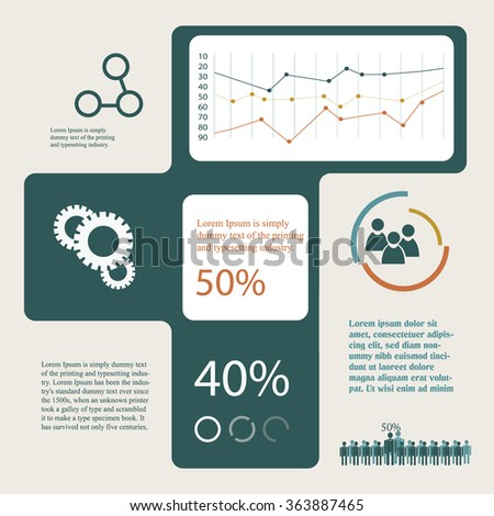 simple design infographics template - stock vector