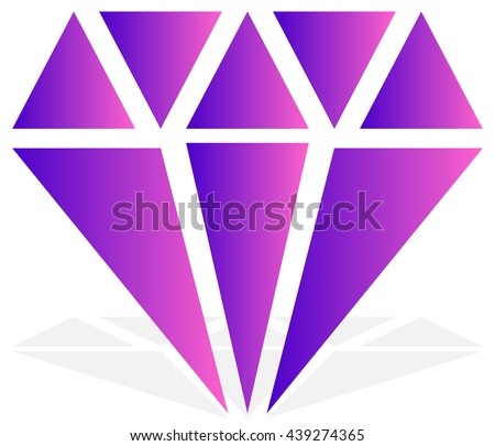 Simple diamond, jewelry sign, symbol. Precious stone, ruby icon, illustration. Expensive jewel, jewel, bijou concepts. Gemstone vector clip-art - stock vector