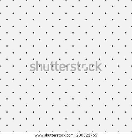 Simple dot pattern, seamless vector background - stock vector