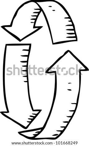 simple drawing of arrow - stock vector
