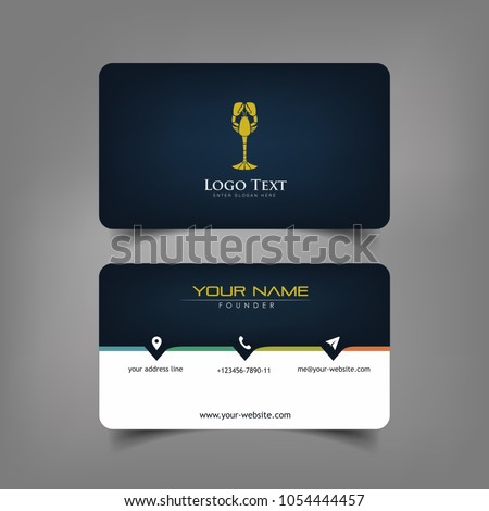 Simple elegant business card templates dark stock vector 1054444457 simple elegant business card templates with dark wine styles identity card templates accmission Image collections