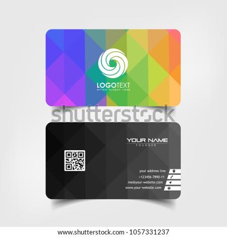 Simple Elegant Business Card Vector Templates Stock Vector