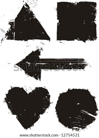simple figures - stock vector