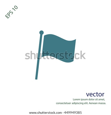 Simple flag icon, vector design element