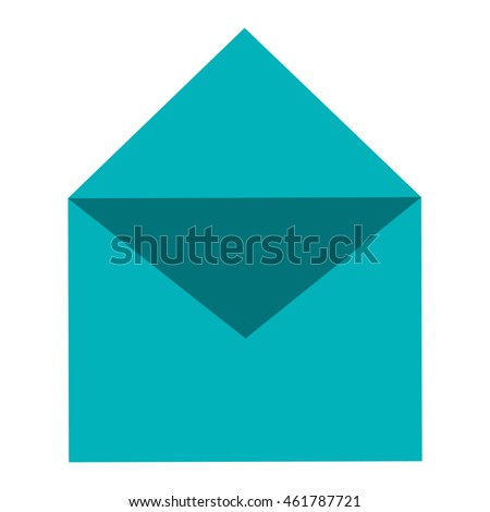 simple flat design open envelope icon vector illustration