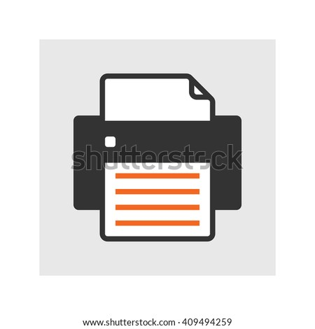 Simple flat text print vector icon - stock vector