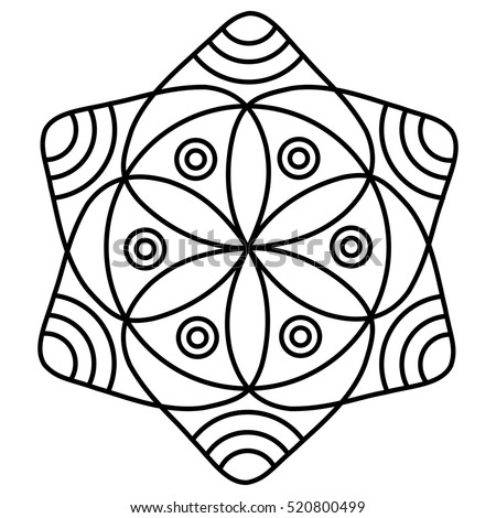 simple flower mandala pattern for coloring book pages easy floral design to color for kids - Simple Mandala Coloring Pages Kid
