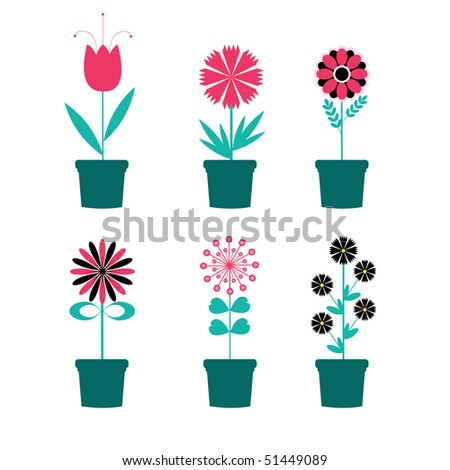 Simple flowers. vector illustration - stock vector