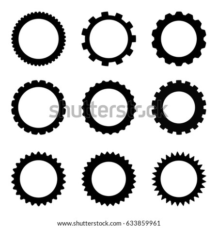 Simple gear set stock vector 633859961 shutterstock simple gear set sciox Image collections