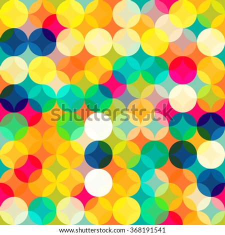Simple geometric background. Geometric seamless pattern of diamonds and cubes. Abstract image with vibrant colors. Suitable for animation, printing, fabrics, textiles, and web - stock vector