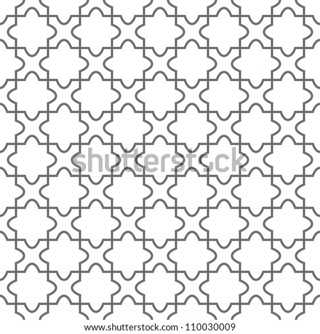 Simple geometric vector pattern - ornament on the floor - stock vector
