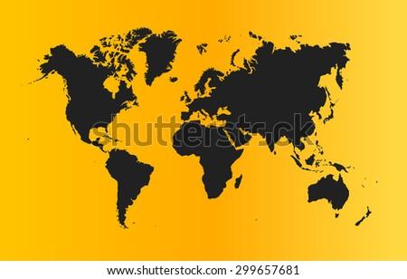 simple global world map vector illustration stock vector 299657681
