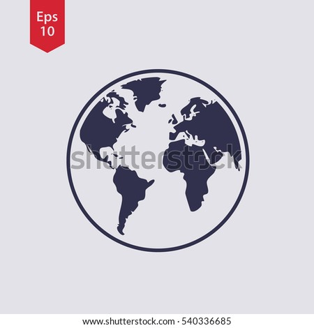 Simple globe icons earth flat sign vectores en stock 540336715 simple globe icons earth flat sign symbol of world map vector illustration gumiabroncs Gallery