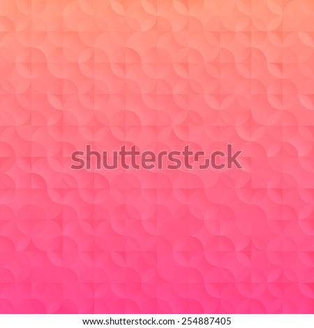 Simple gradient Technology background. Vector illustration with geometric elements - stock vector
