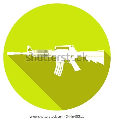 simple gun icon. vector illustration 7 - stock vector