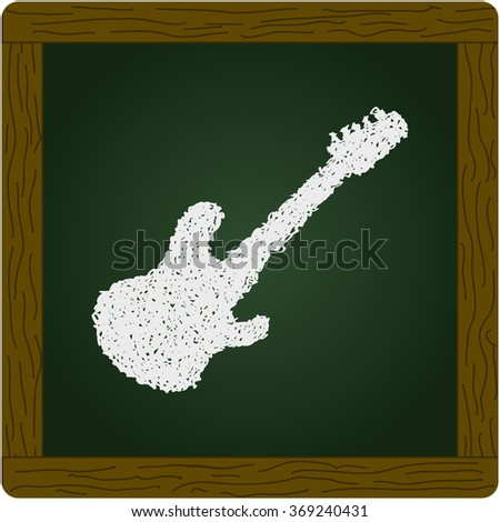 Simple hand drawn doodle of a guitar - stock vector