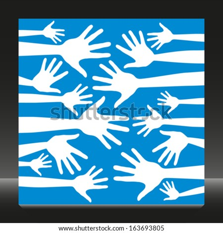 Simple hand pattern vector.  - stock vector