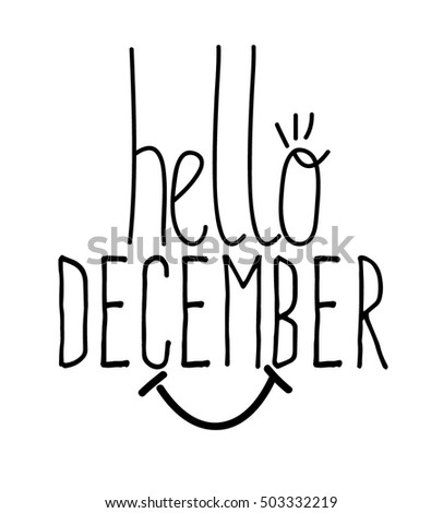 Simple handwritten Hello december
