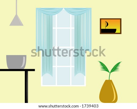 Simple home interior. - stock vector