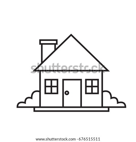 Continuous line drawing house stock vector 508922740 for Minimalist house sketch
