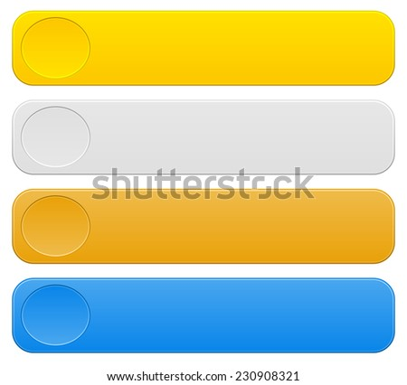 Simple horizontal banners. First three places, and additional blue color - stock vector