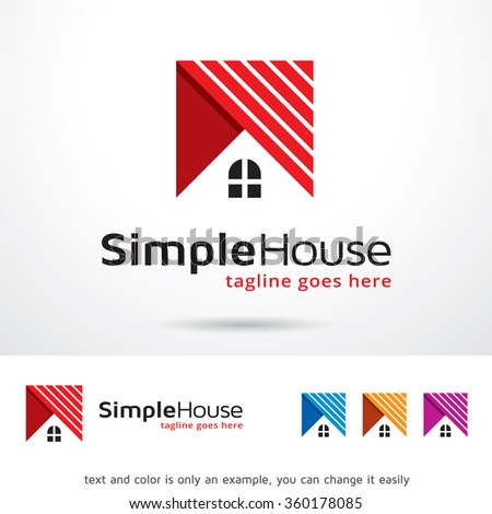 Simple House Logo Template Design Vector