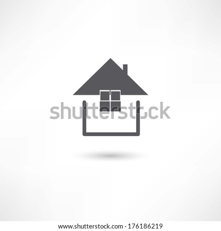 simple house symbol - stock vector