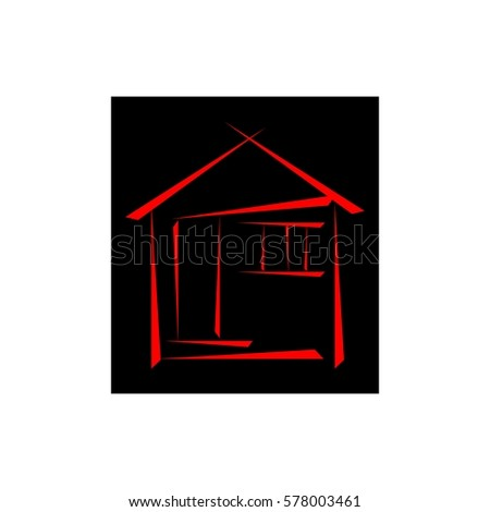 Simple house symbol stock vector 578003461 shutterstock for Minimalist house logo