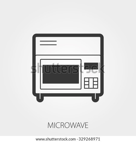 Simple Household Web Icons: Microwave