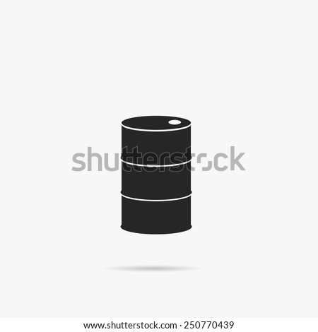 Simple icon barrels of oil. - stock vector