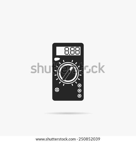 Simple Icon Digital Multimeter. - stock vector