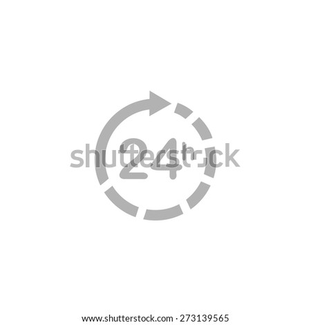 Simple Icon 24 hours. - stock vector