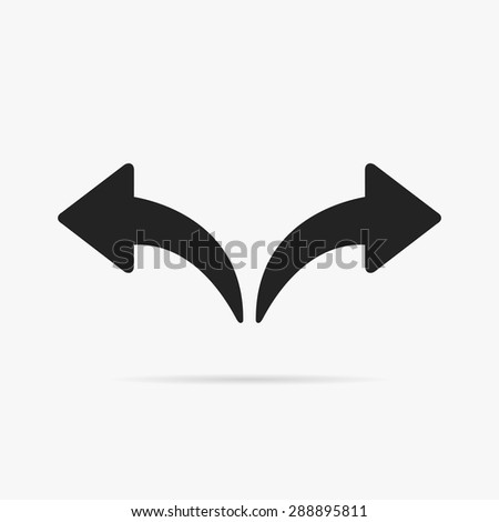 Simple icon left and right arrows. Forward and backward. - stock vector
