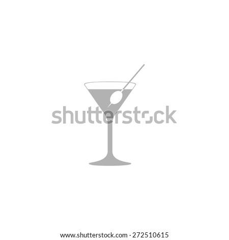 Simple icon martini glass. - stock vector