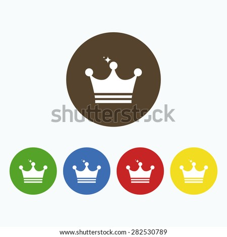 Simple icon royal crown with sequins. - stock vector